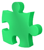 Jigsaw piece green
